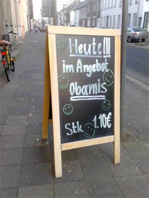 Obamis, Stück 1,10 Euro